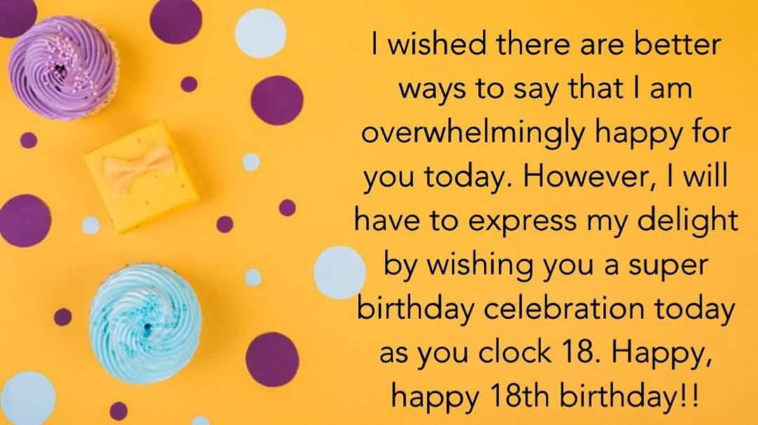 Beautiful Happy 18th Birthday Picture For Sharing