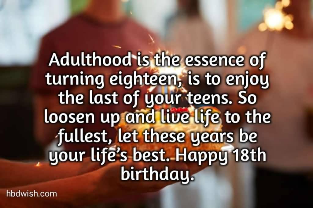 Beautiful Happy 18th Birthday Wish For Sharing
