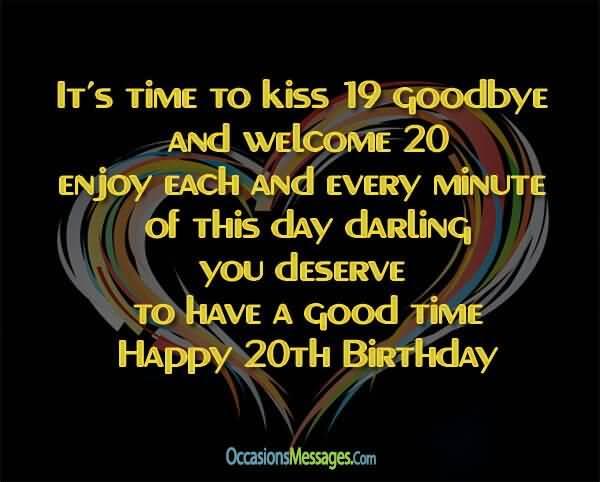 Beautiful Happy 20th Birthday Image For Children