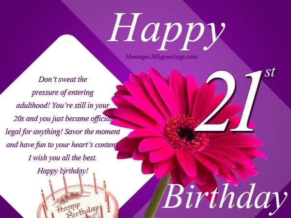 Beautiful Happy 21st Birthday Idea For Sharing