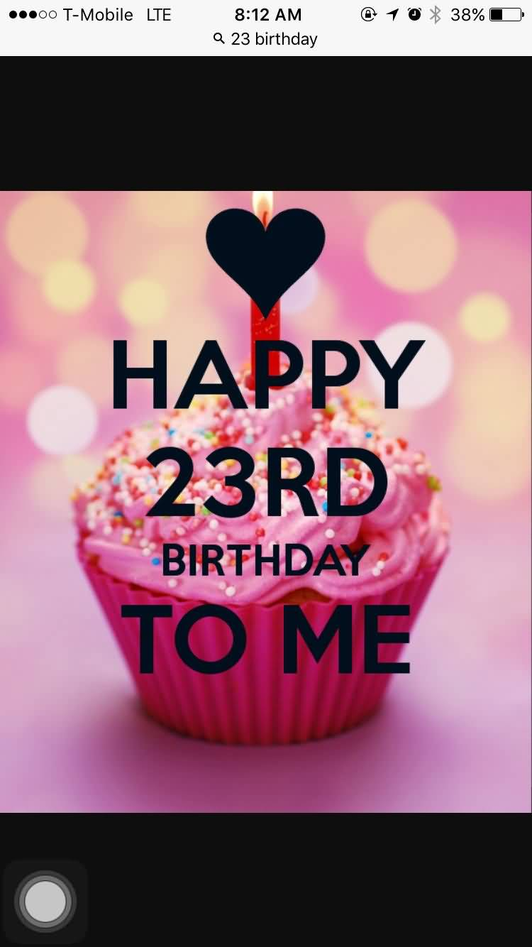Beautiful Happy 23rd Birthday Image For Family Member