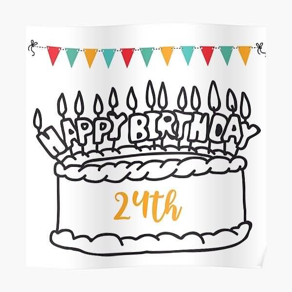 Beautiful Happy 24th Birthday Greeting For Friend