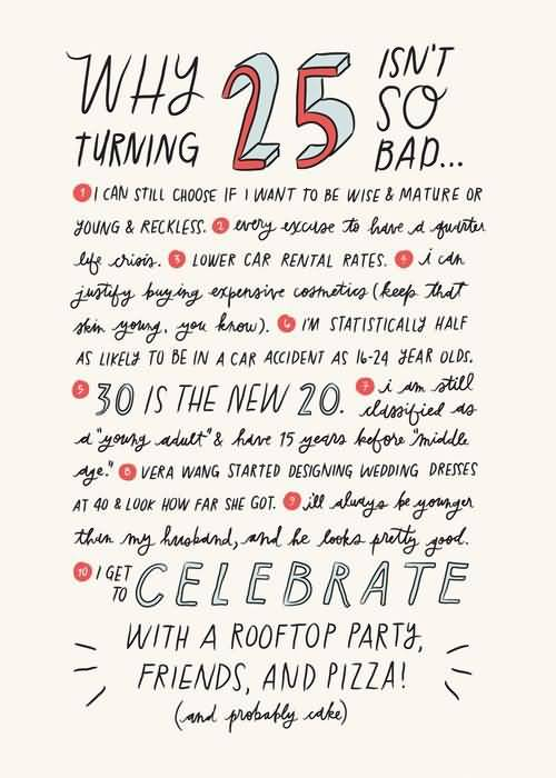 Beautiful Happy 25th Birthday Message For Friend