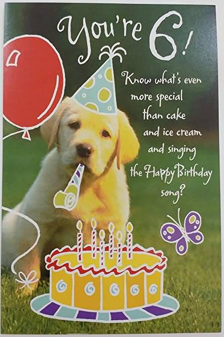 Best 6th Birthday Card For You