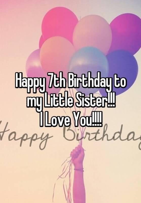 Best 7th Birthday Greeting For You