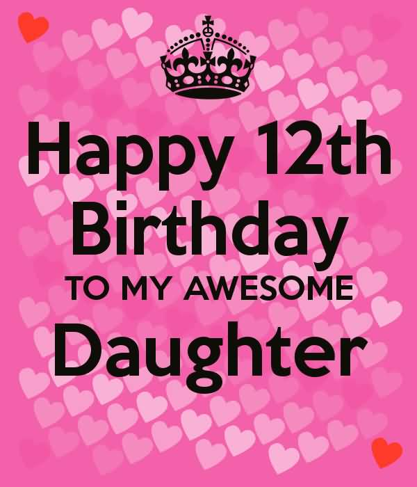 Best Happy 12th Birthday Card For You