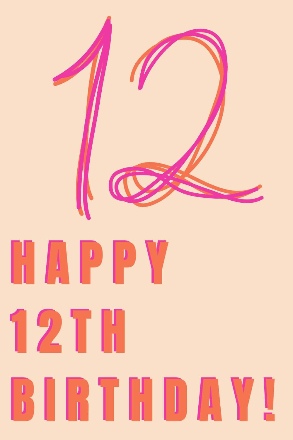 Best Happy 12th Birthday Wish For You