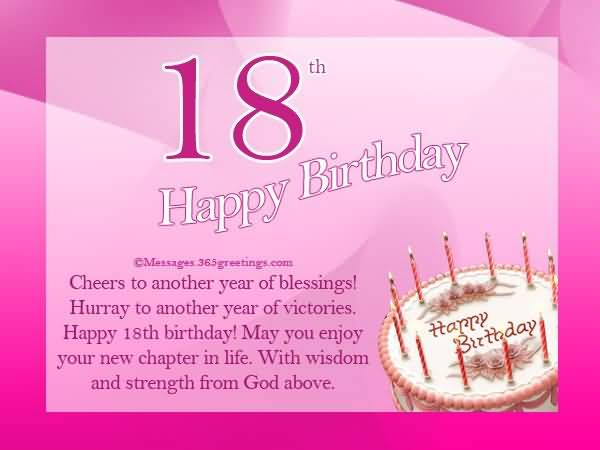 Best Happy 18th Birthday Card For You
