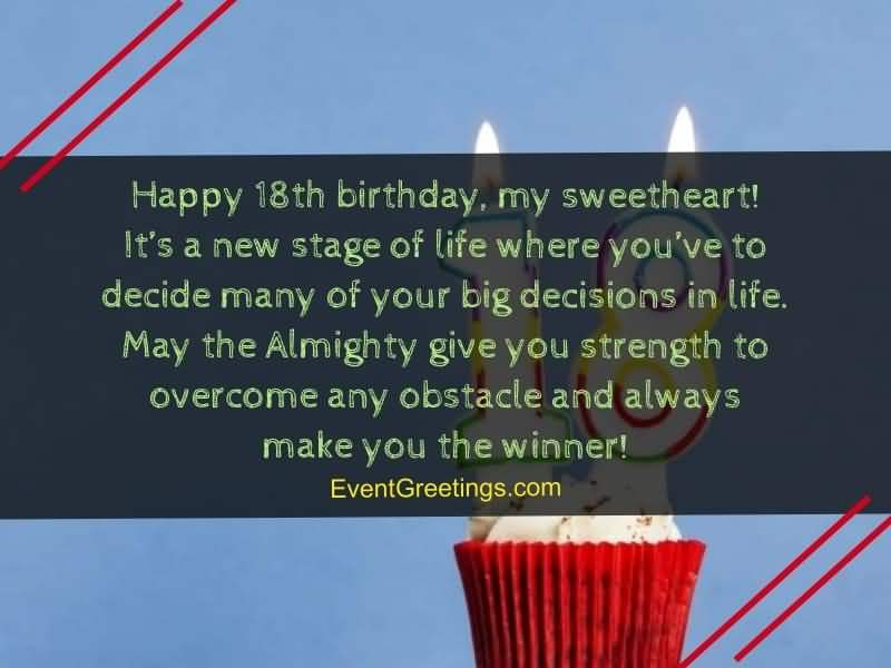 Best Happy 18th Birthday Greeting For You