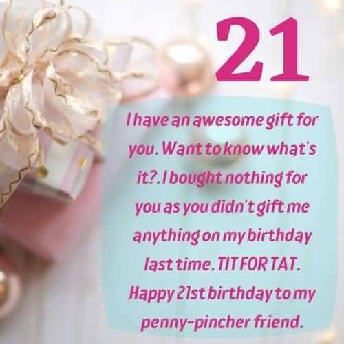 Best Happy 21st Birthday Card For You