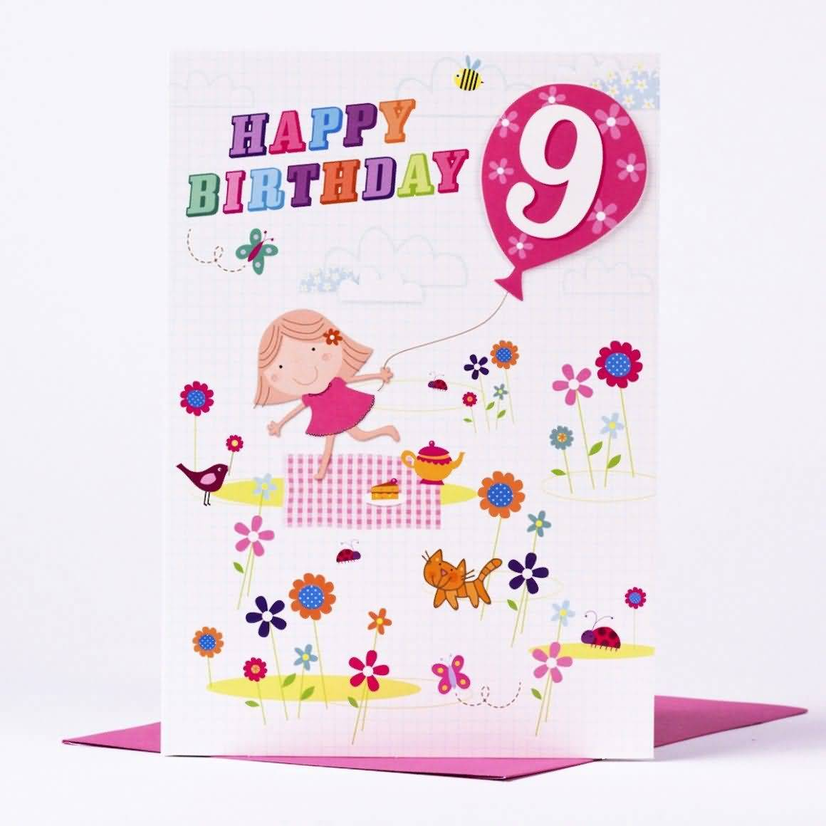 Cool 9th Birthday Image For Kid