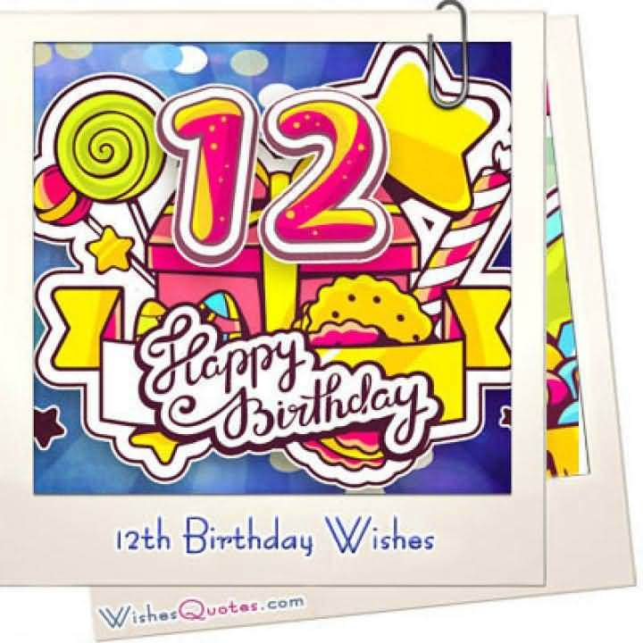 Cool Happy 12th Birthday Card For Kid