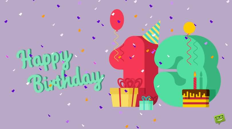 Cool Happy 13th Birthday Greeting For Kid