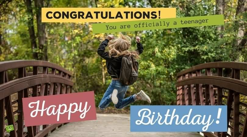 Cool Happy 14th Birthday Greeting For Sharing