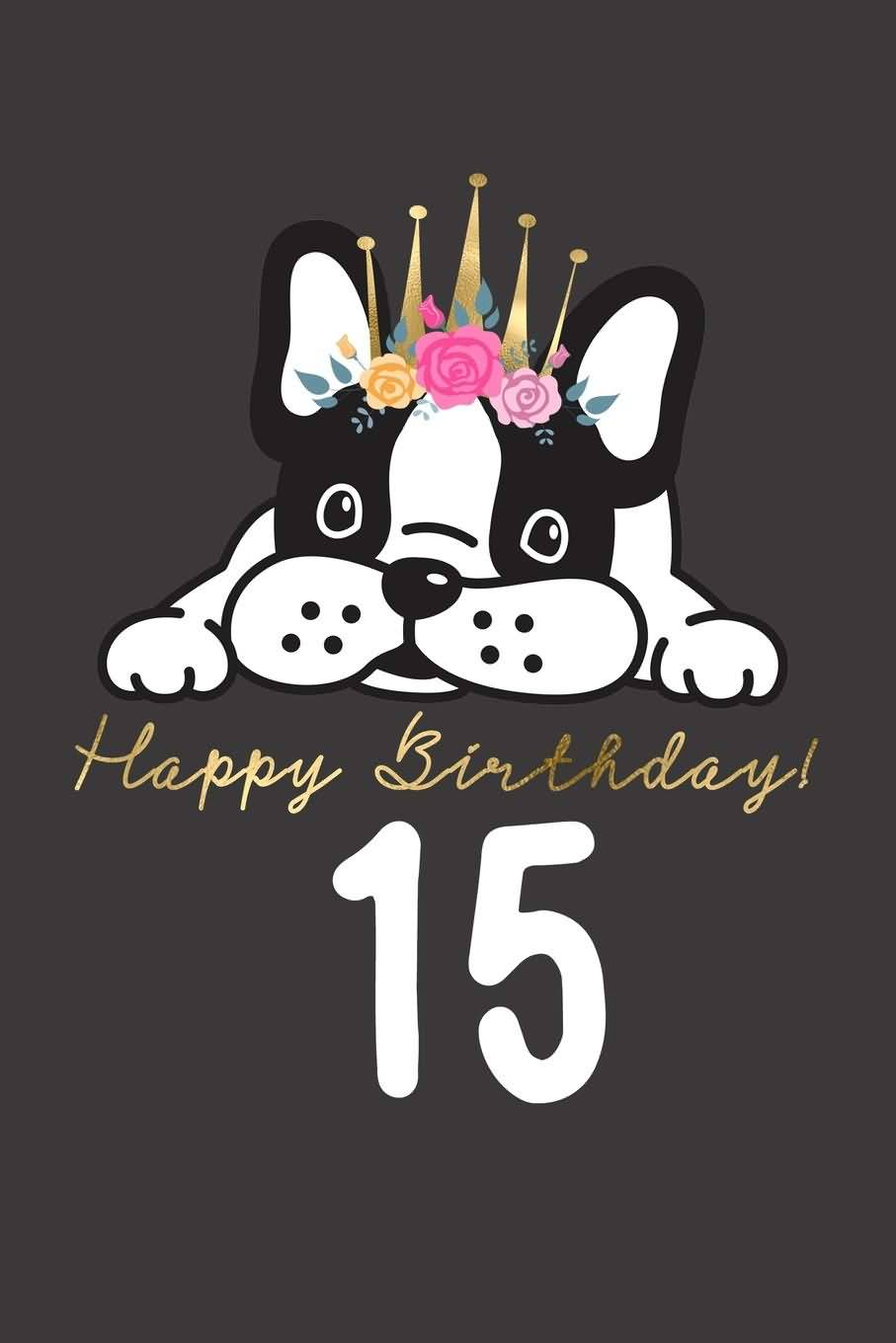 Cool Happy 15th Birthday Card For Kid