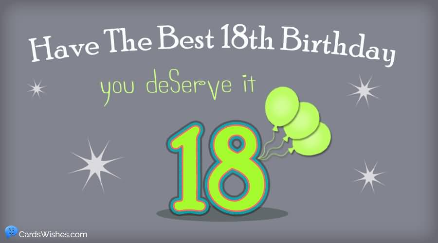 Cool Happy 18th Birthday Greeting For Kid