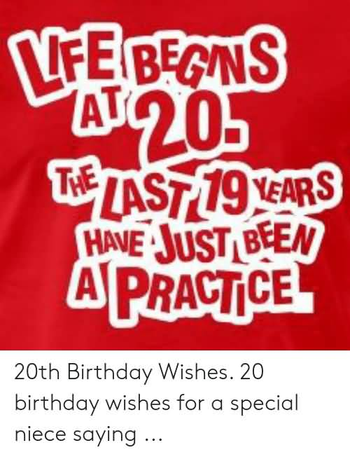 Cool Happy 20th Birthday Greeting For Sharing