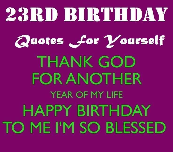 Cool Happy 23rd Birthday Message For Sharing