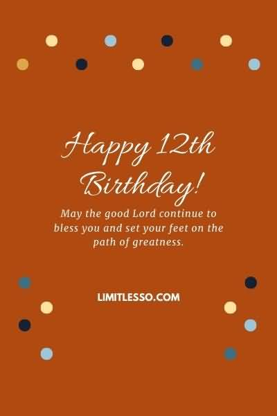 Eye Catching Happy 12th Birthday Greeting For Facebook