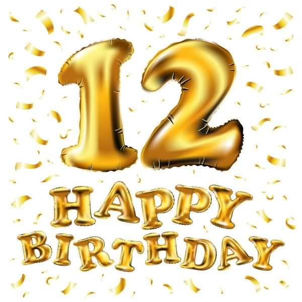 Eye Catching Happy 12th Birthday Idea For Facebook