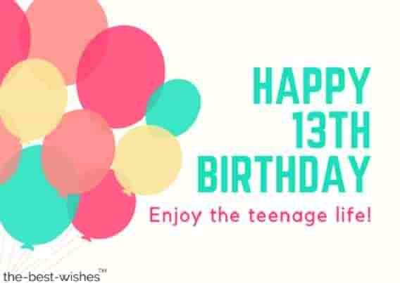 Eye Catching Happy 13th Birthday Wishes Image For Facebook