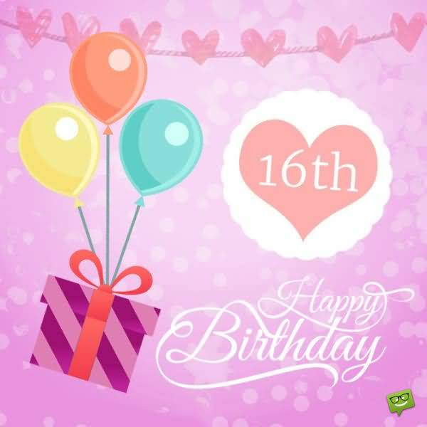 Eye Catching Happy 16th Birthday Wish For Facebook
