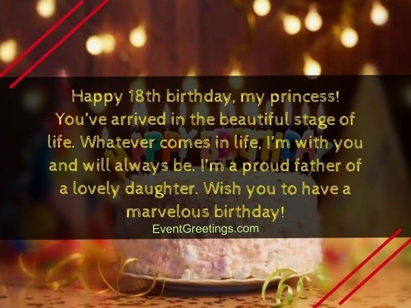 Eye Catching Happy 18th Birthday Card For Facebook