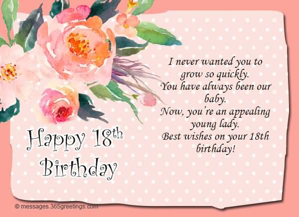 Eye Catching Happy 18th Birthday Greeting For Facebook