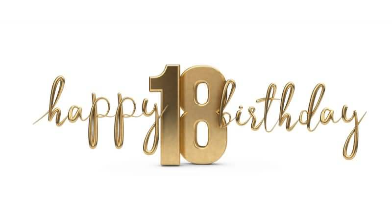 Eye Catching Happy 18th Birthday Image For Facebook