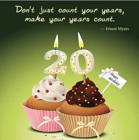 Eye Catching Happy 20th Birthday Wish For Kid