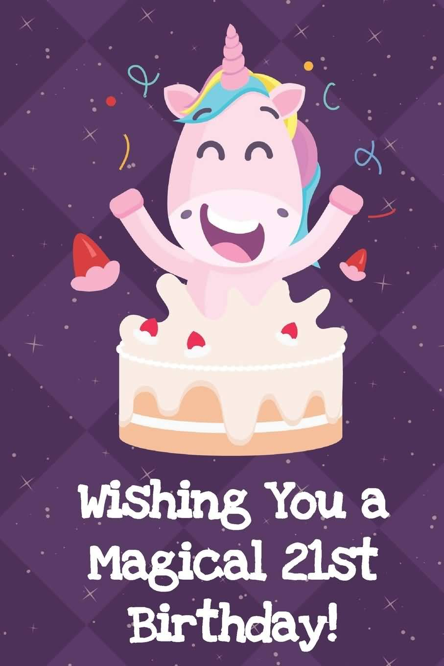 Eye Catching Happy 21st Birthday Greeting For Facebook
