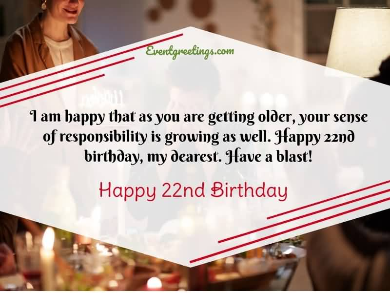 Eye Catching Happy 22nd Birthday Card For Facebook