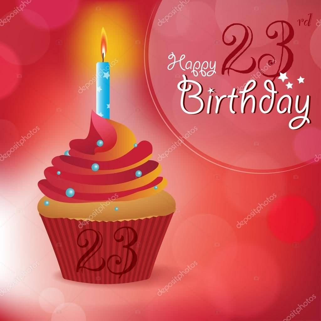 Eye Catching Happy 23rd Birthday Card For Friend