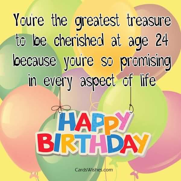 Eye Catching Happy 24th Birthday Image For You