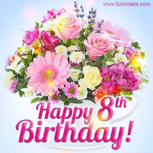 EyeCatching 8th Birthday Wish For Kid