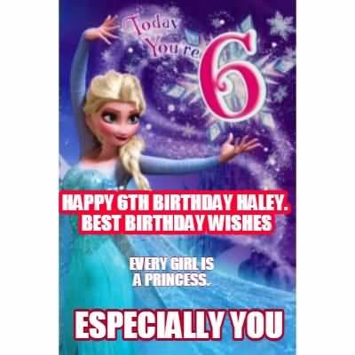 Latest 6th Birthday Image For Children