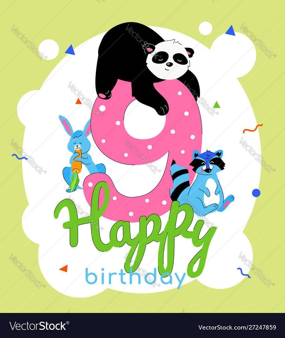 Latest 9th Birthday Card For Children