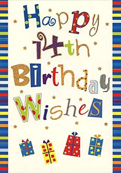 Latest Happy 14th Birthday Card For You
