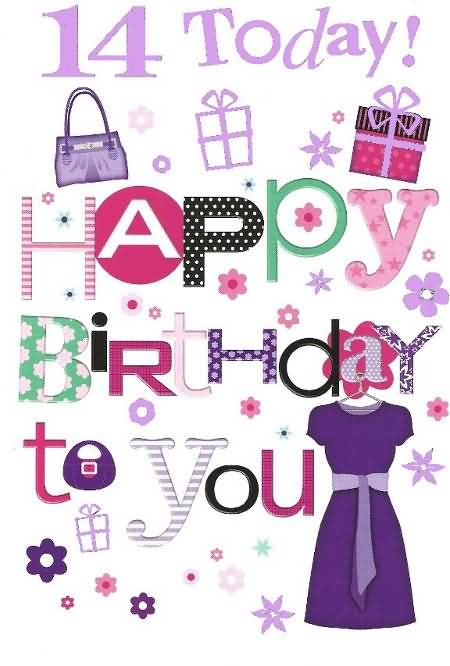 Latest Happy 14th Birthday Wishes Picture For You