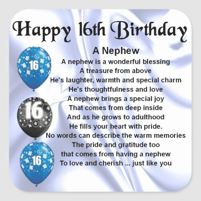 Latest Happy 16th Birthday Card For Children