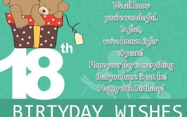 Latest Happy 18th Birthday Wishes Message For Children