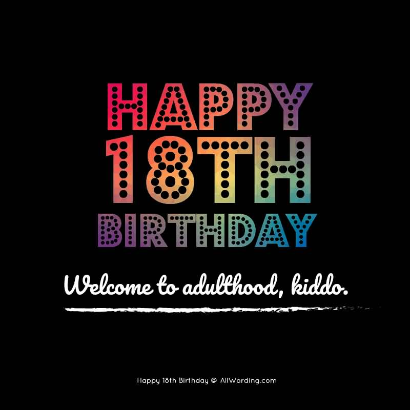 Latest Happy 18th Birthday Picture For Children