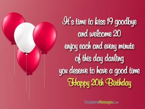 Latest Happy 20th Birthday Card For You