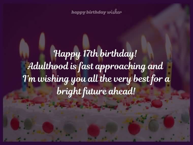 Mind Blowing Happy 17th Birthday Greeting For Children