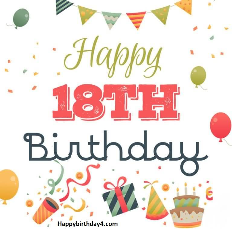 Mind Blowing Happy 18th Birthday Greeting For Sharing