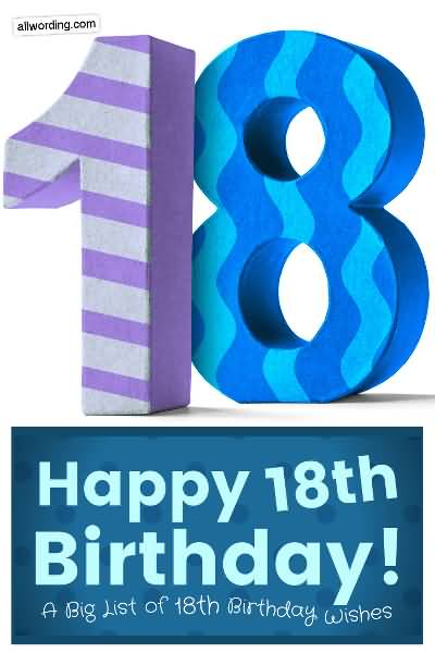 Mind Blowing Happy 18th Birthday Idea For Sharing
