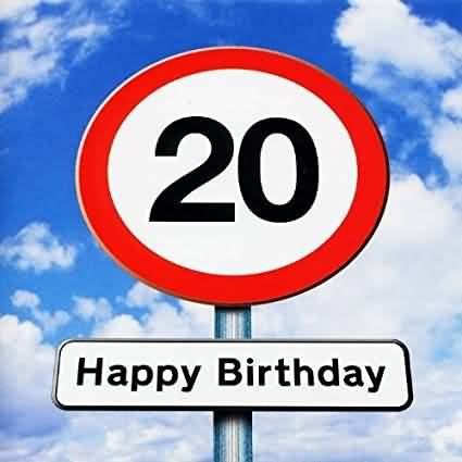 Mind Blowing Happy 20th Birthday Greeting For Children