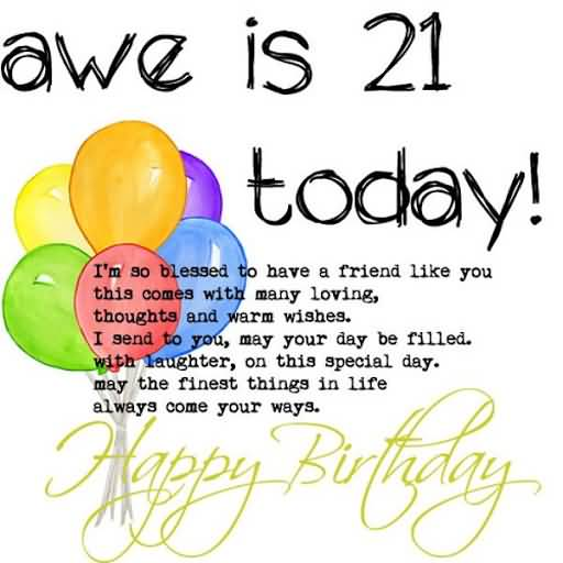 Mind Blowing Happy 21st Birthday Greeting For Sharing