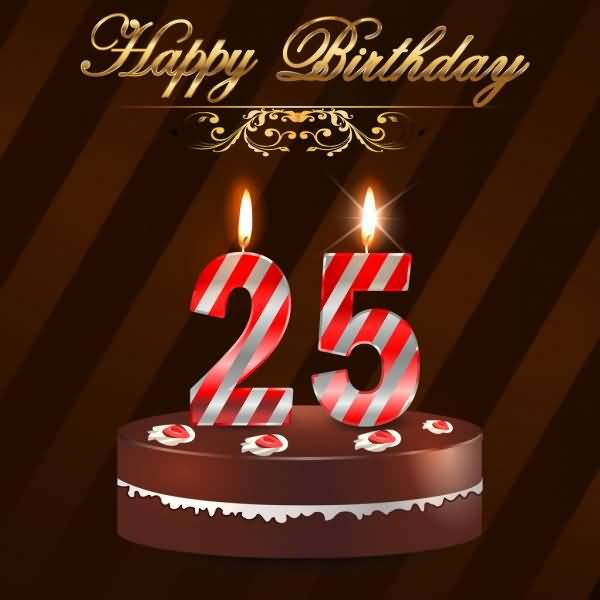 Mind Blowing Happy 25th Birthday Image For Friend