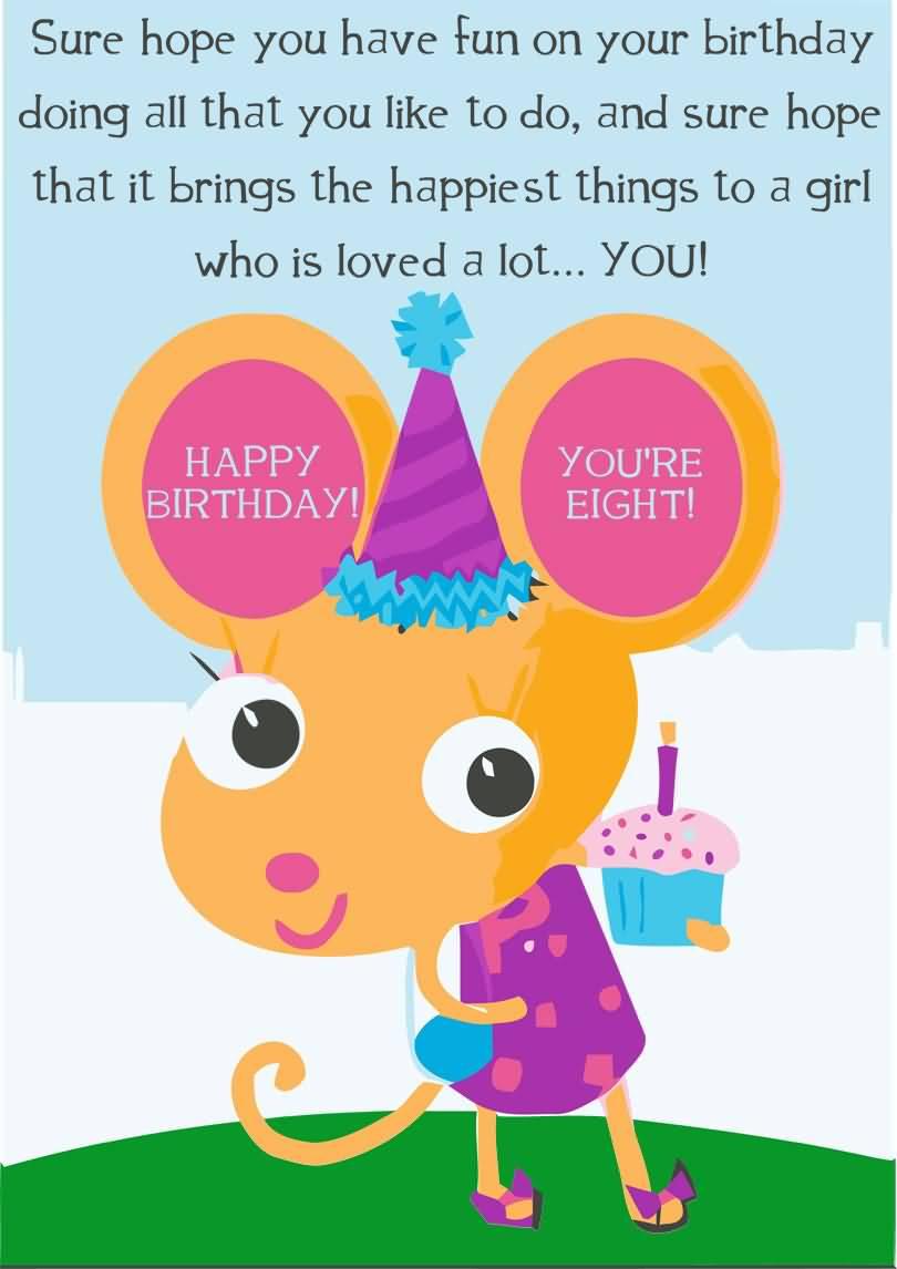 MindBlowing 8th Birthday Greeting For Children